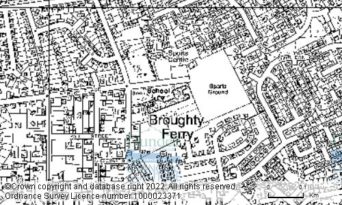 Map showing location of DUNDEE CITY COUNCIL PER DIRECTOR OF EDUCATION, FORTHILL PRIMARY SCHOOL, FINTRY PLACE, BROUGHTY FERRY, DUNDEE, DD5 3BE