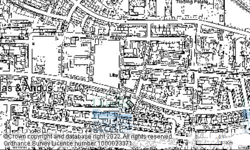 Map showing location of DOUGLAS LIBRARY, BALMORAL PLACE, DUNDEE, DD4 8SH
