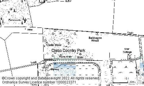 Map showing location of CLATTO COUNTRY PARK, DALMAHOY DRIVE, DUNDEE