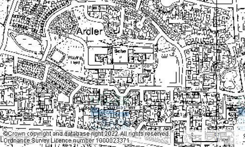 Map showing location of Ardler Complex, Turnberry Avenue, DUNDEE, DD2 3TP