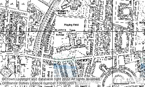 Map showing location of ST JOHNS ROMAN CATHOLIC HIGH SCHOOL, HAREFIELD ROAD, DUNDEE, DD3 6EY