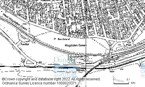 Map showing location of Magdalen Green, Magdalen Yard Road, Dundee