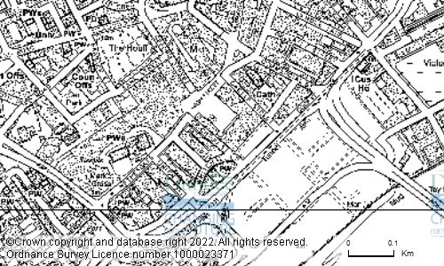 Map showing location of Underground Garage, Crichton Street, Dundee