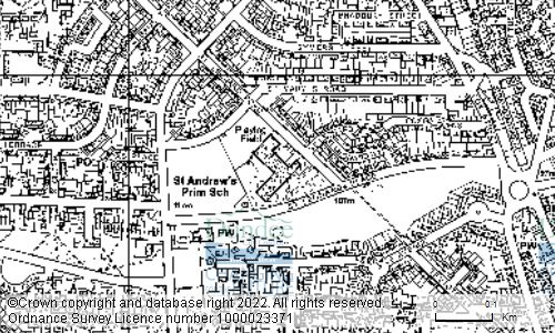 Map showing location of ST ANDREWS PRIMARY SCHOOL, 45 ST LEONARD PLACE, DUNDEE, DD3 9HD